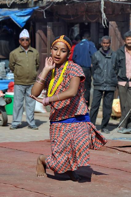 Nepal - Patan - Durbar Square - Traditional Dance - 2
