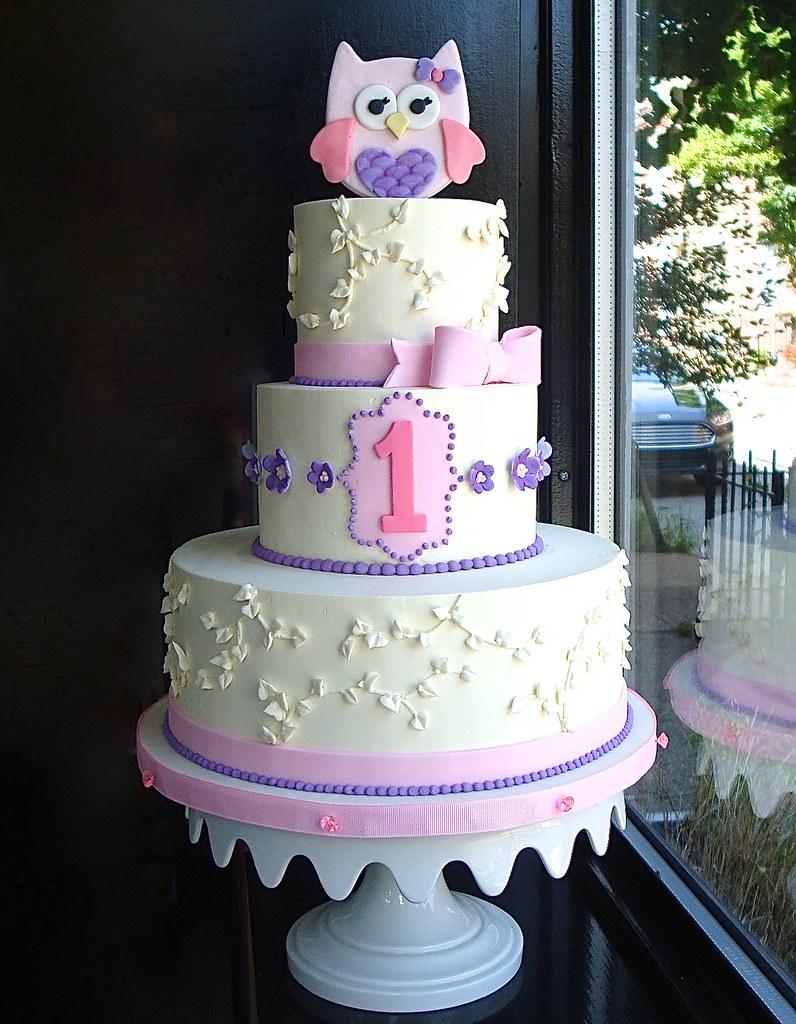 Prime Baby Owl First Birthday Cake Sasa Flickr Funny Birthday Cards Online Hendilapandamsfinfo