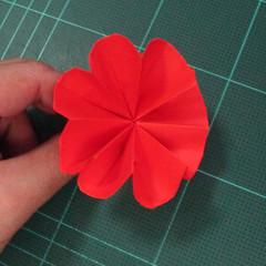 วิธีพับกระดาษเป็นช่อดอกไม้ติดอกเสื้อ (Origami Wedding Chest Flower) 025