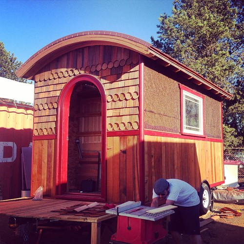 visiting Lina Menard's tiny house project at an amazing shipyard in St. John | by fekaylius