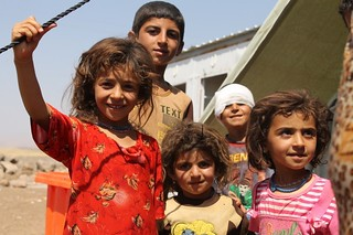 Iraqi refugee children at Newroz camp where they are being helped by the International Rescue Committee   by DFID - UK Department for International Development