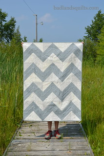 First of Infinity & Architexures with Solids Chevron Quilt