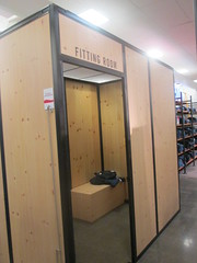 Wooden Fitting Rooms at JCPenney
