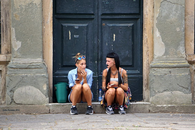 Friends, Lucca, Tuscany, Italy
