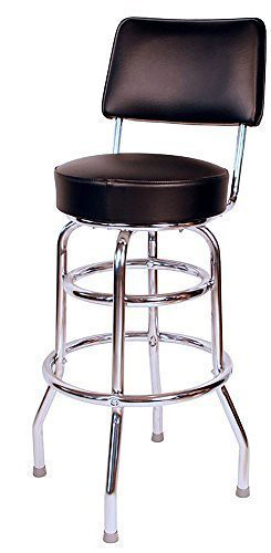 Fine Double Ring Commercial Black 30 Inch Bar Stool With Back Beatyapartments Chair Design Images Beatyapartmentscom