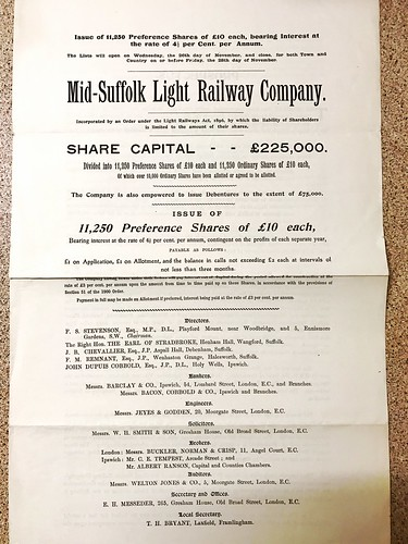 Mid suffolk Light Railway Prospectus | by ian.dinmore