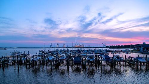 sunset sky water boats virginia dusk norfolk norfolkyachtandcountryclub
