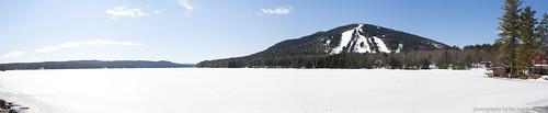 lake ski pond woods maine moosepond bridgton us302