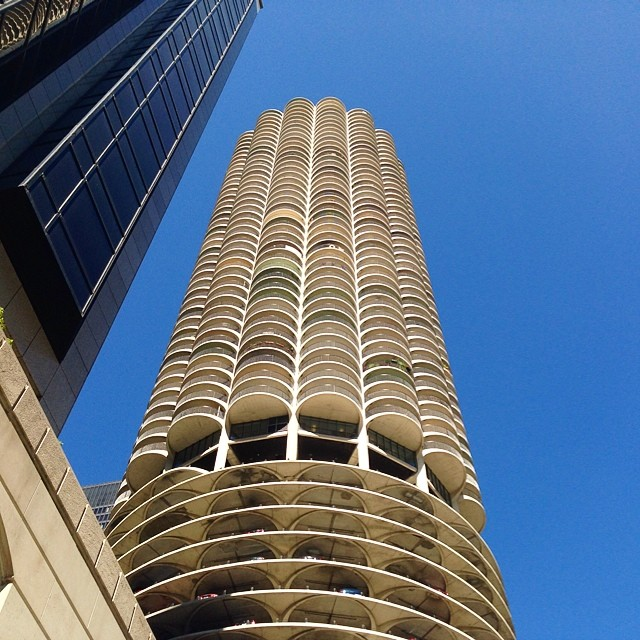 #Chicago Parking Garage Outside The Westin