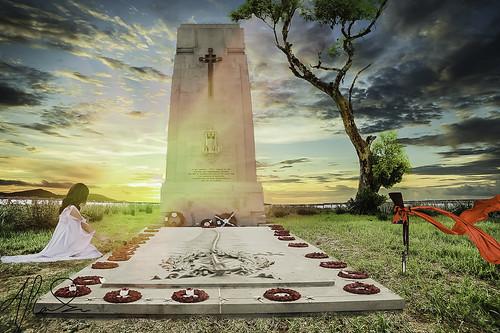 sunset tree glasgow guns cenotaph