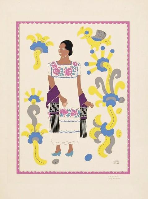 Woman From Yucatan Print