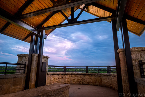 roof sky clouds bench texas unitedstates cloudy rail plano