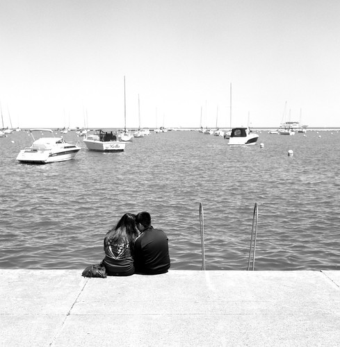 """Image titled """"By the water, Chicago."""""""