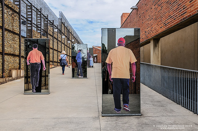 Apartheid Museum - images of people moving forward