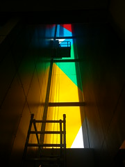 colourful stairwell windows
