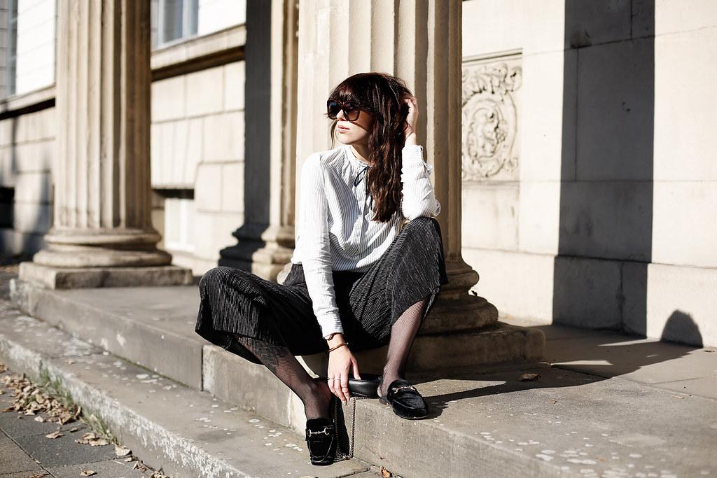 0fd2953e5 ... loafer brogues mules slippers velvet gucci princetown shoes autumn  minimal black white stripes celine audrey sunglasses