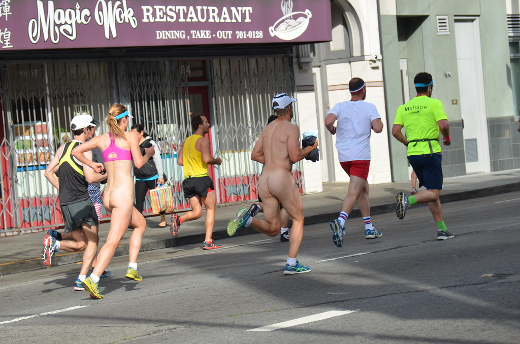 Nude male runners naked