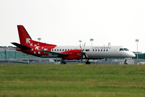 Saab 2000 HB-IYI London Stansted 23.06.14 | by jonf45 - 6 million views -Thank you