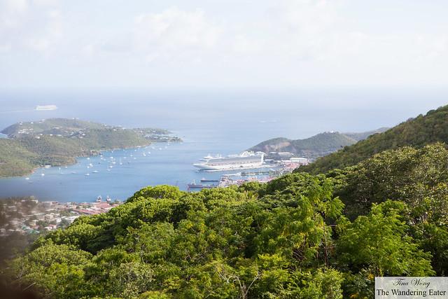 Looking east of Charlotte Amalie, St. Thomas