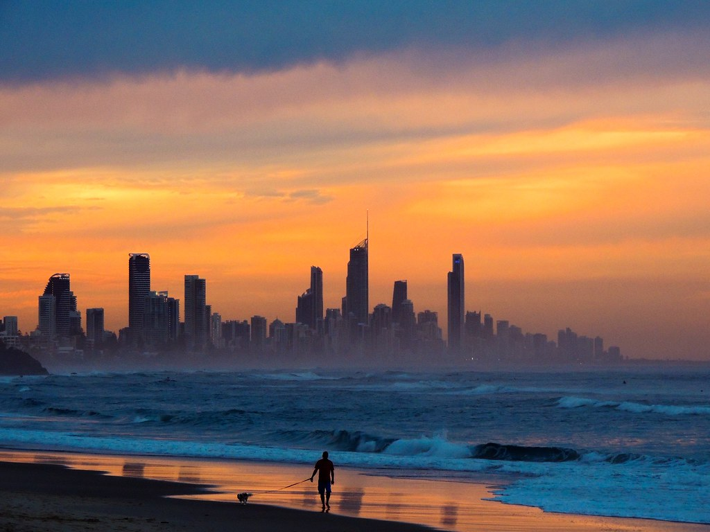Surfers Paradise Queensland Australia Taken From Burlei