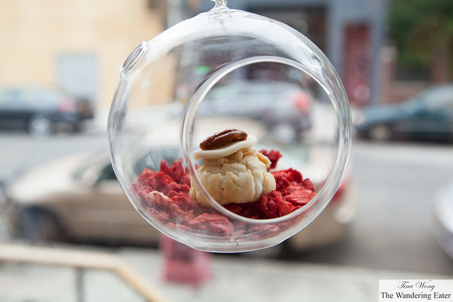 Vanilla choux in an adorable hanging display