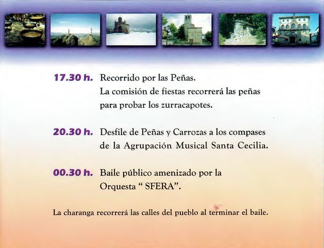 Programa Fiestas de San Lorenzo Año 2006