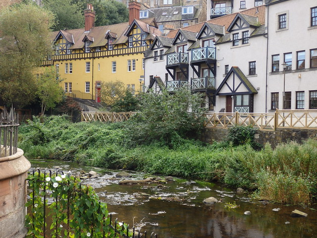 View of Dean Village from Damside