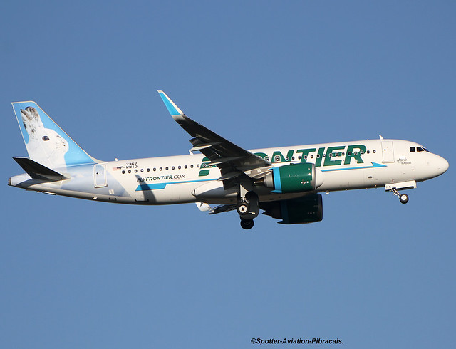 Frontier Airlines. FIRST FLIGHT. NEW LIVERY