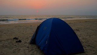 Sunset at the beach while camping | by wanderingjatin