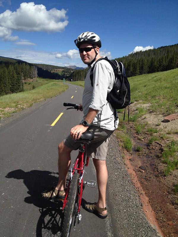 Chris on Mountain Bike