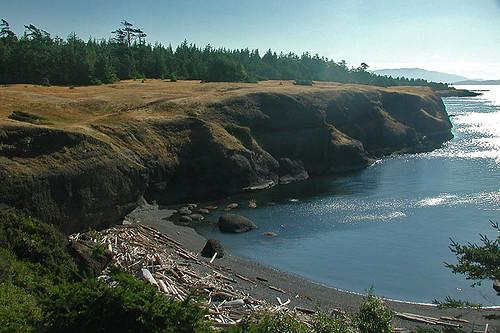 Bluff at Helliwell Park, Hornby Island, Gulf Islands, Georgia Strait, British Columbia, Canada