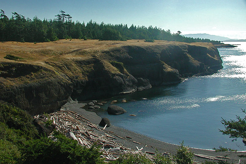 Bluff at Helliwell Park, Hornby Island, Gulf Islands, Georgia Strait, British Columbia, Canada