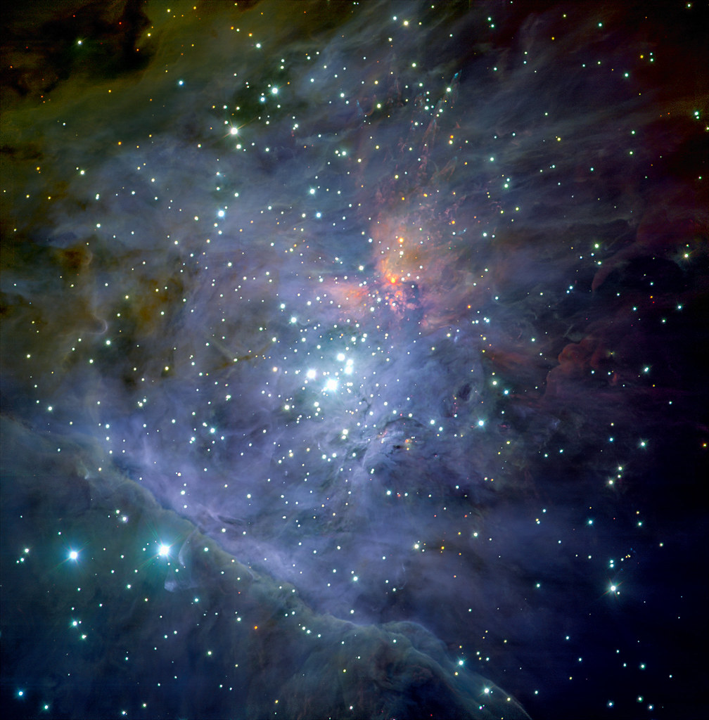 An infrared image of the Orion Trapezium Cluster