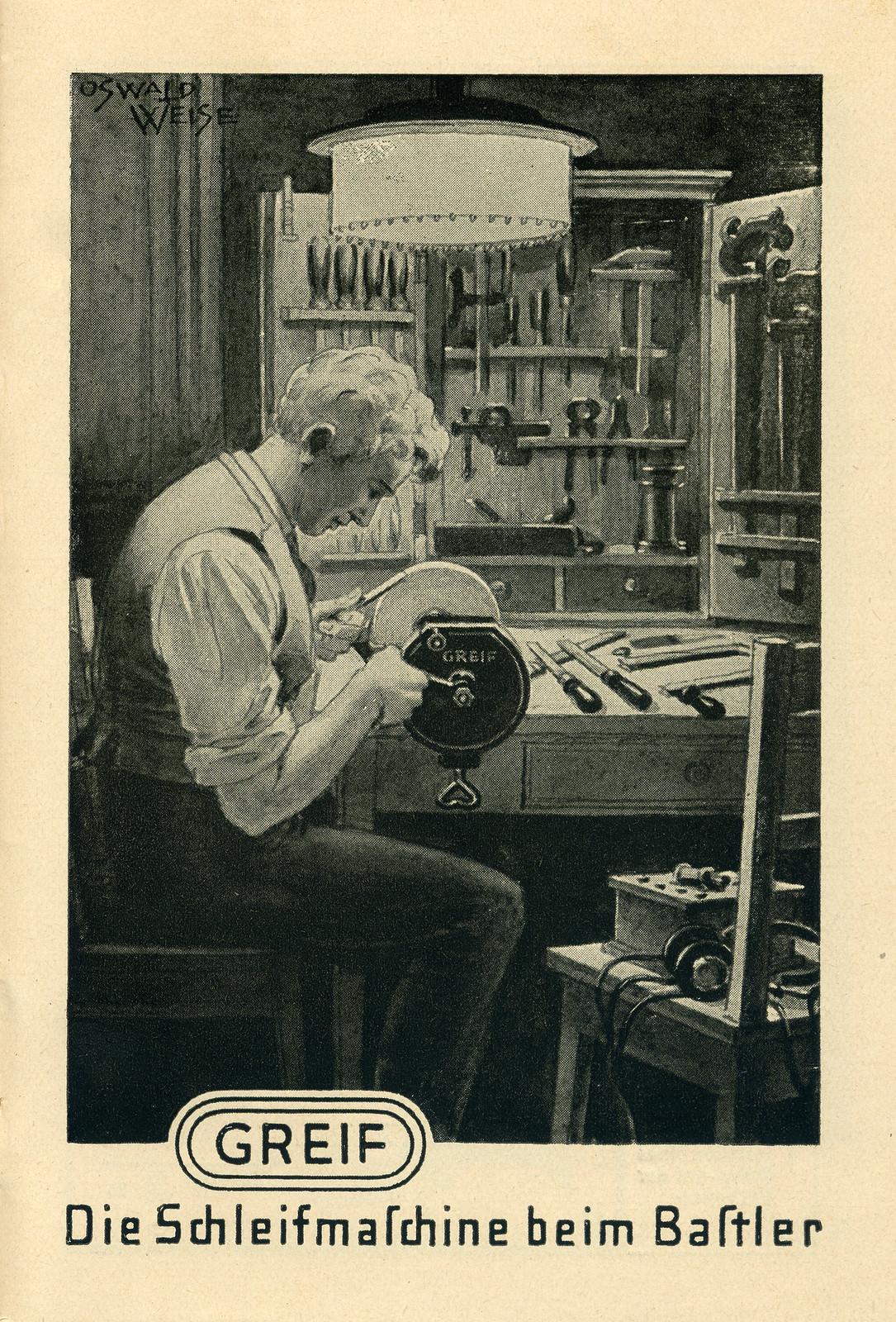 Werbeheftchen für Greif Schleifmaschinen, Bild 10