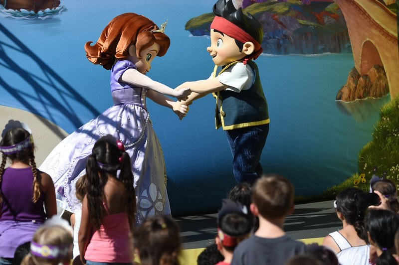 "Disney Junior's ""Pirate and Princess: Power of Doing Good"" Los Angeles tour stopped outside of Pasadena's Kidspace Children's Museum, Friday August 15."
