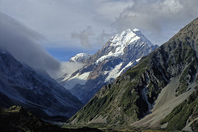 A glimpse of Mount Cook