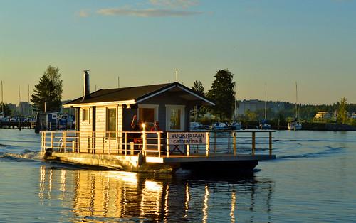 suomi sauna kesä summer evening lake sun aurinko järvi järvimaisema sunlight reflections nikon interesting light warm views waterscape sunrays floatingsauna d3200 nikond3200 finland