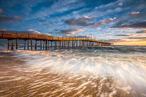 northcarolina outerbanks obx nc pier sunrise beach nagshead ocean seascape surf atlantic coast eastcoast outdoorphotographer landscape longexposure waves morning goldenhour capehatteras nature coastal