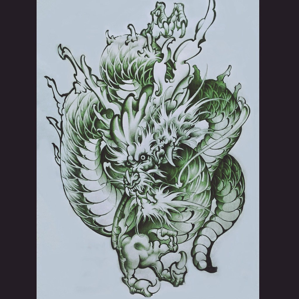 Dragon Tattoo Design 龍 Japanese Tattooer Magu