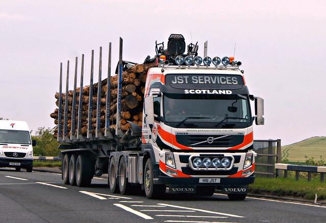 JST Services (Ayr) H16JST Volvo FM500 6 X 2 A77 Girvan Ayrshire
