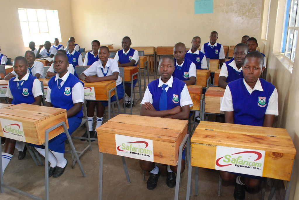 Image result for Safaricom with school girls