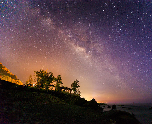 longexposure star 台灣 milkyway 6d 星空 海灘 銀河 屏東縣 ef1635mm 長曝 枋山鄉 456k