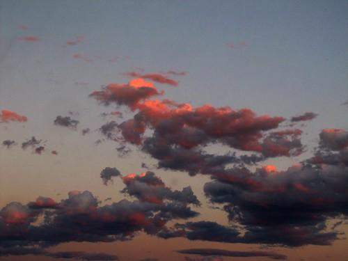 sunset summer sky clouds colorado alpenglow montrosecolorado