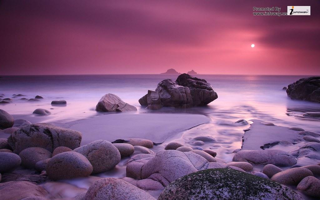 ... pink beach sunset wallpaper | by hayden.ricky2
