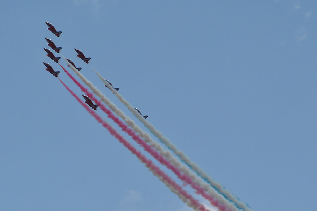 Red Arrows - Dawlish Airshow 2014