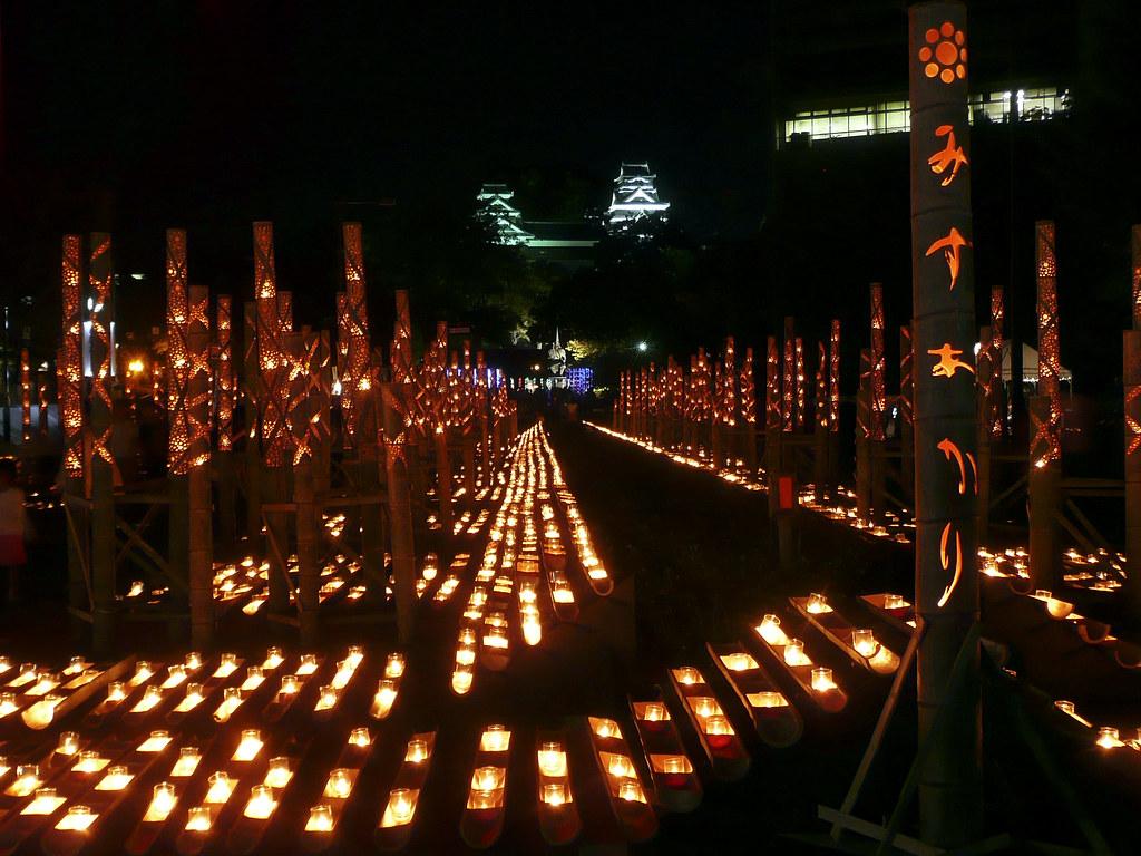Mizu Akari Festival, Kumamoto, Japan 熊本市の水明かり祭り