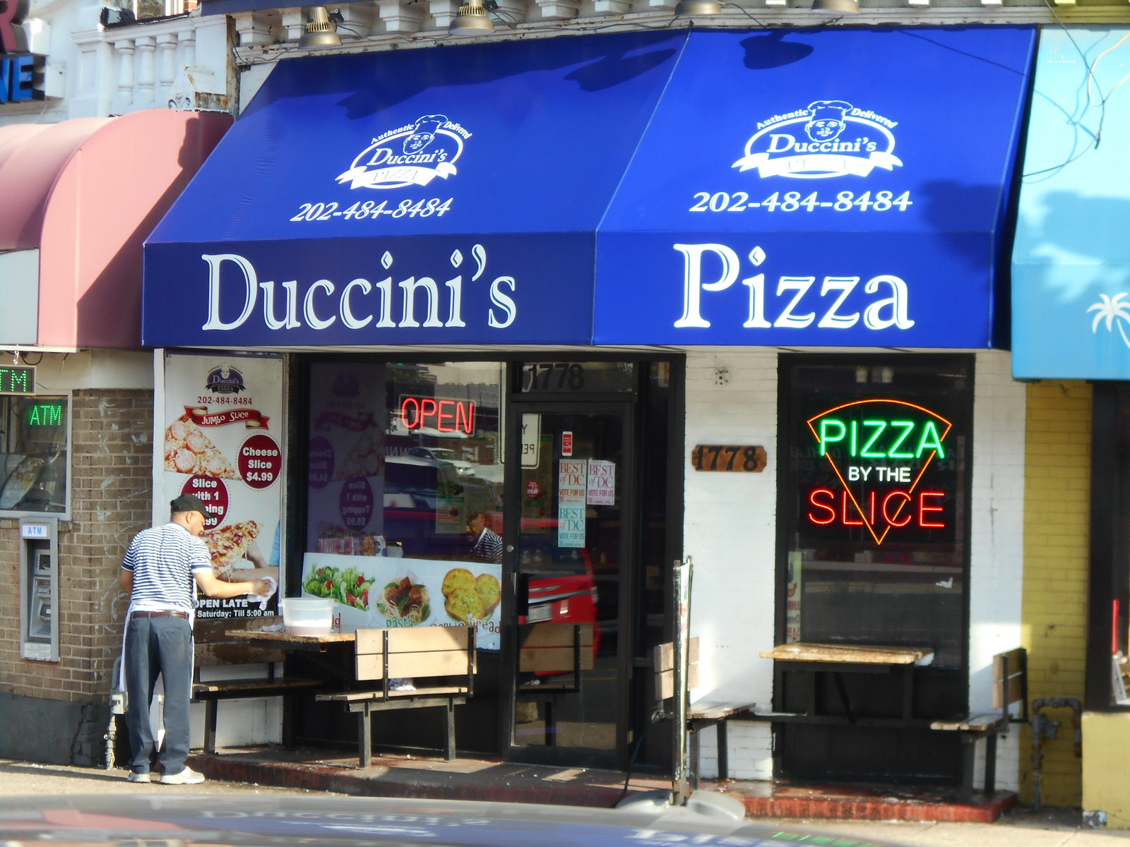 Commercial Restaurant Pizza Awning