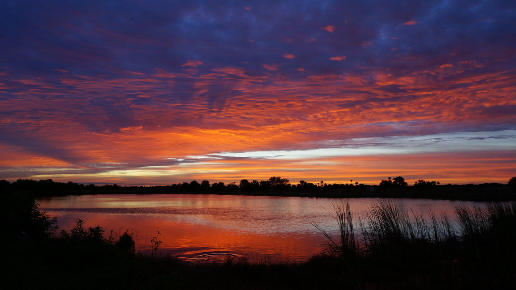 Sunrise over Ochopee Pond
