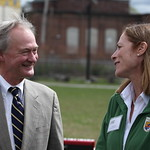 Governor Lincoln Chafee and Service Northeast Regional Director Wendi Weber