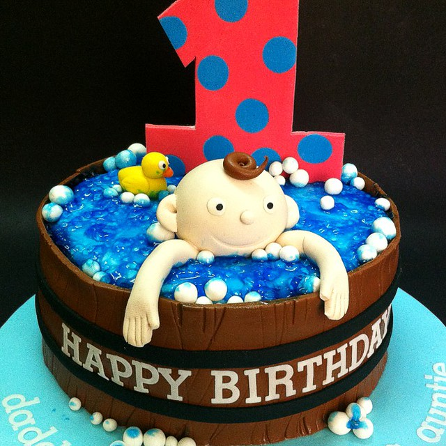 Fabulous 1St Boy Birthday Cakes For Kids 1St Boy Birthday Cakes For Flickr Funny Birthday Cards Online Elaedamsfinfo